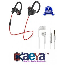 239d73a45af OkaeYa QC-10 Sports Bluetooth Headset 4.1 & Music/Talk Earphones